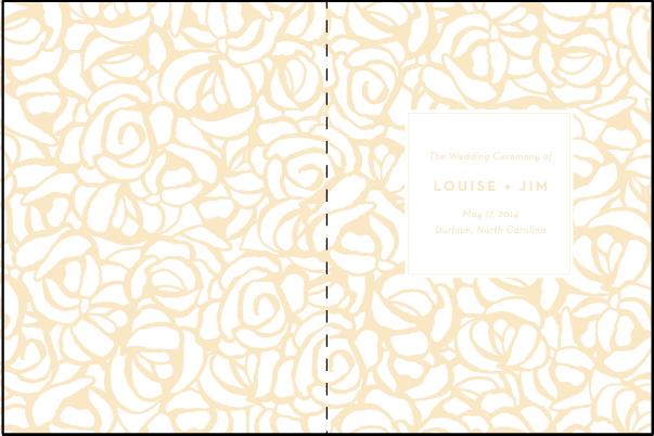 rose for wedding program