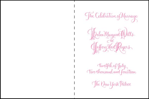 Letterpress wedding program covers