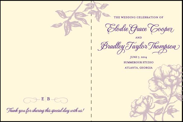 Letterpress Wedding Program Covers – Mini Bridal