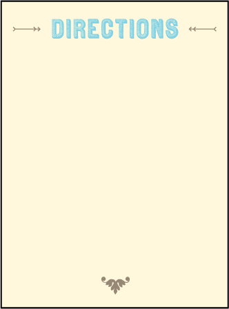 Carte de Visite Letterpress Direction Design Medium direction card