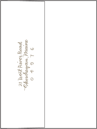 String Calligraphy Letterpress Envelope Design Medium outer invitation