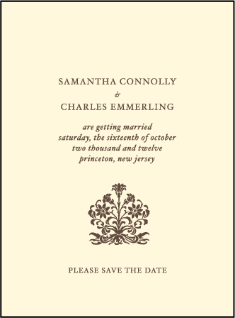 Letterpress Wedding Invitations Vintage Design Bella Figura Letterpress
