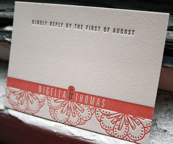 letterpress wedding invitations - Bella Figura