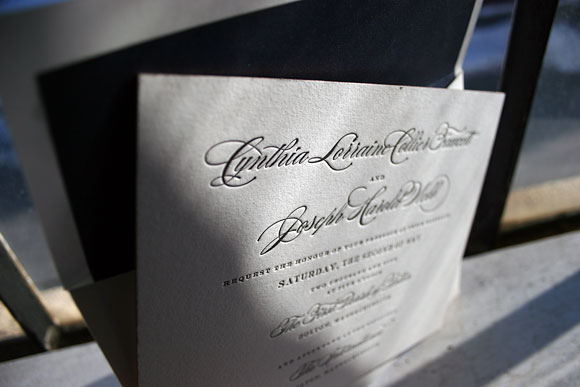 Letterpress website card