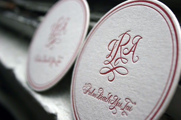 Custom Letterpress Coaster