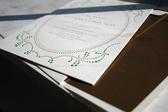 Cartoccio Letterpress Wedding Invitation