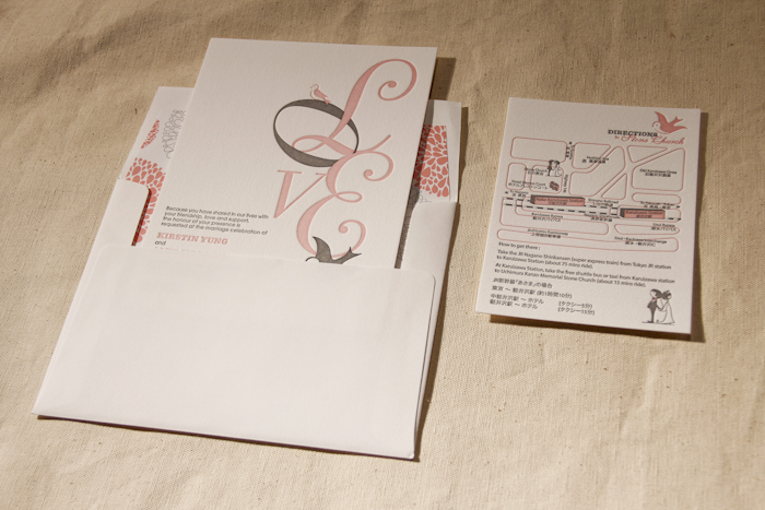 design contest winner love in translation by the wedding With letterpress wedding invitations hong kong