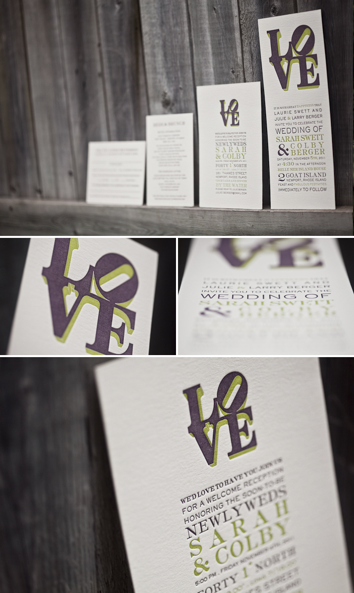 love letterpress wedding invitations