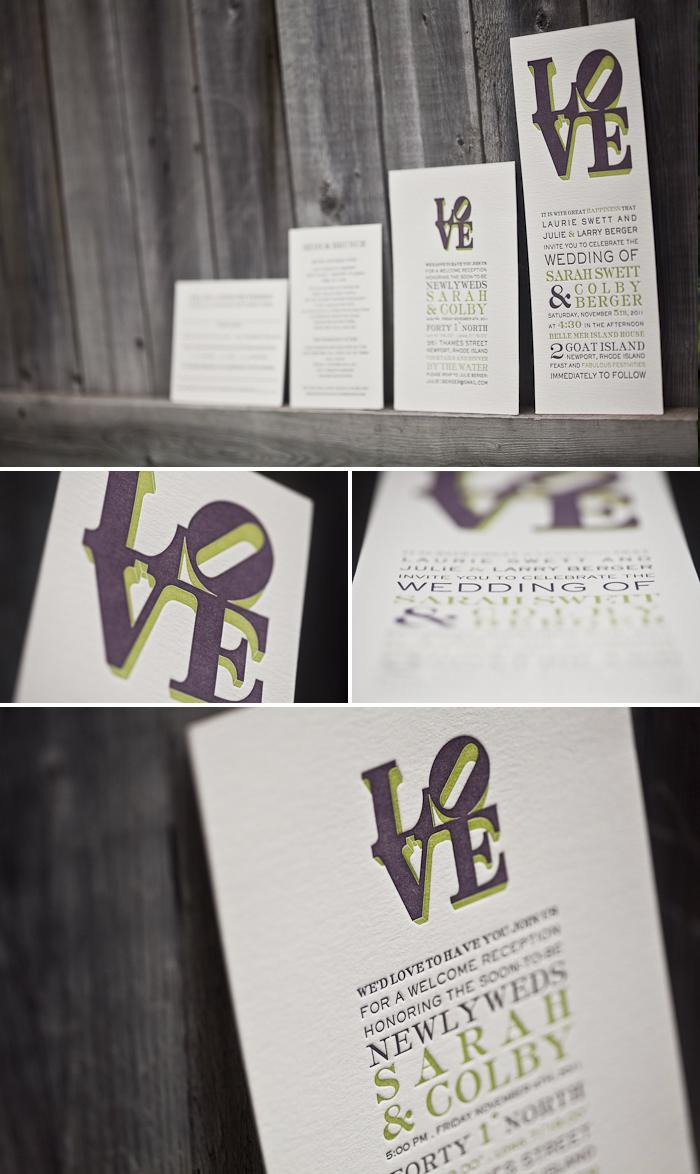 love letterpress wedding invitations