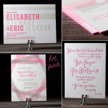 Hot pink neon ink is a new letterpress ink offering from Bella Figura for 2012