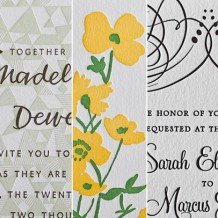 What color scheme do you love best for wedding invitations?