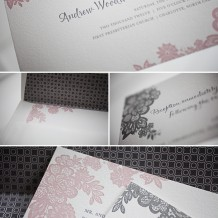 romantic letterpress wedding invitations