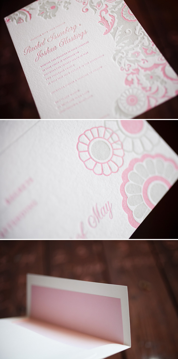 vintage letterpress wedding invitations