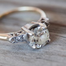 Designer Lindsy Aragona's antique engagement ring has a lot of sentimental value: it features her grandmother's setting and his grandmother's diamond.