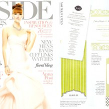 Inside Weddings Magazine featured Bella Figura's Addison Vintage programs