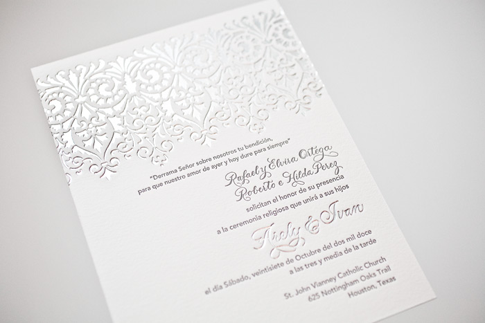 This Customization Of Our Royal Night Design Pairs Shiny Silver Foil