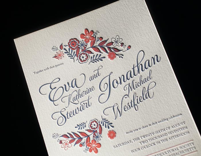 Folk Floral, one of Bella Figura's 60 new wedding invitations for 2014