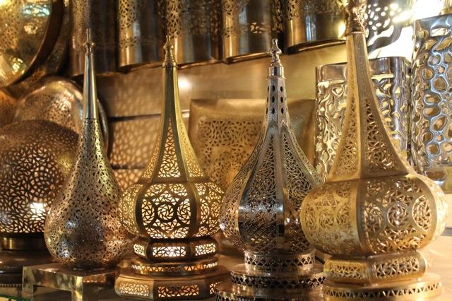 Moroccan lanters seen during Bella Figura calligrapher Sarah Hanna's travels to Marrakech