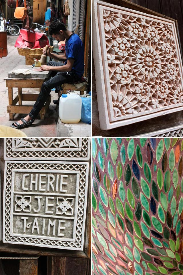 Artisans and patterns abound in Marrakech, Morocco | Bella Figura designer travels with Sarah Hanna