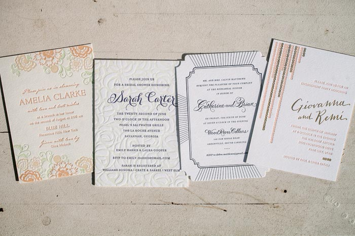 Create custom invitations for rehearsal dinners, wedding brunches, bridal showers & engagement parties with Bella Figura