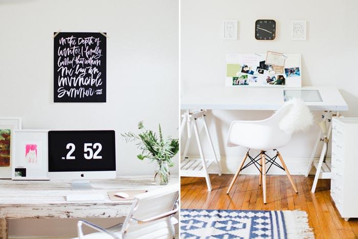 Bella Figura designer Chelsea Petaja's workspace