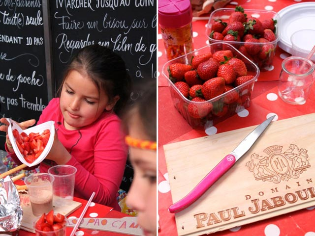 The children's cooking school at la tete at toto boutique in Cassis, France