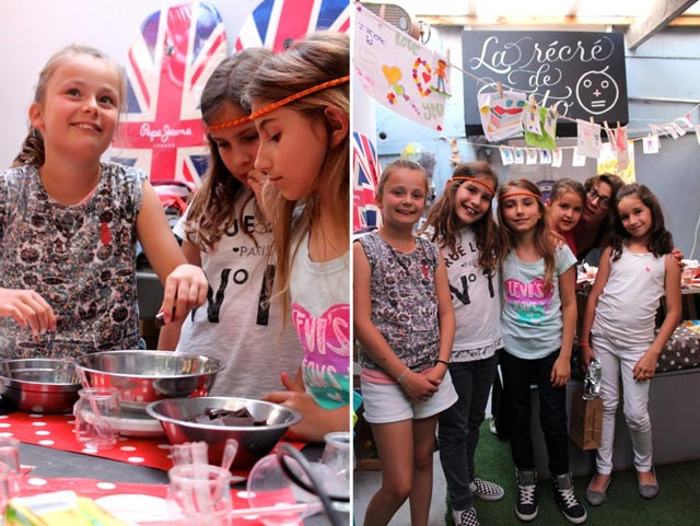 The children's cooking school at La tête à toto' boutique in Cassis, France