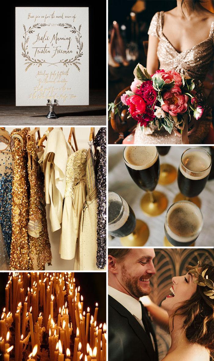 Chelsea Petaja's inspiration for Harvest, a foil stamped wedding invitation from Bella Figura