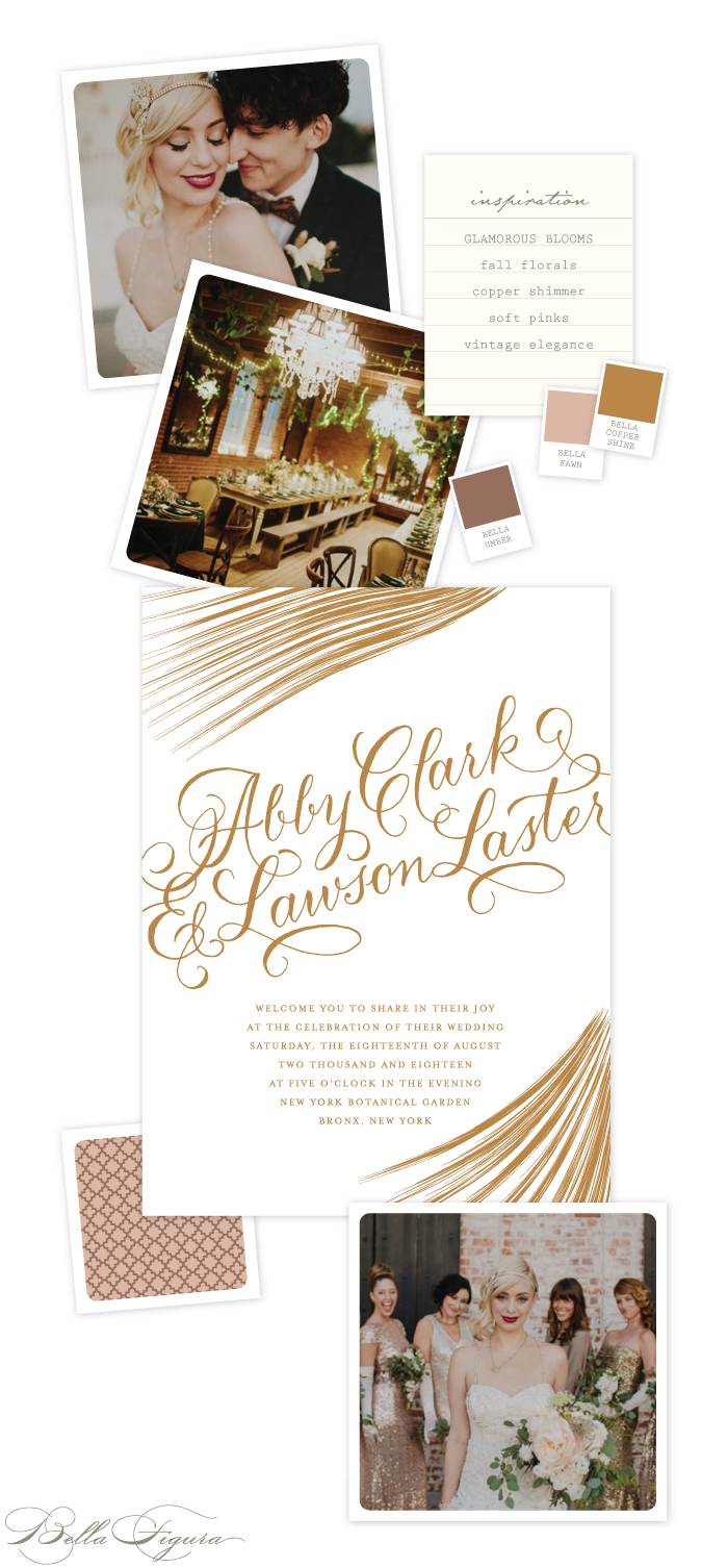 Captivating copper wedding invitation inspiration