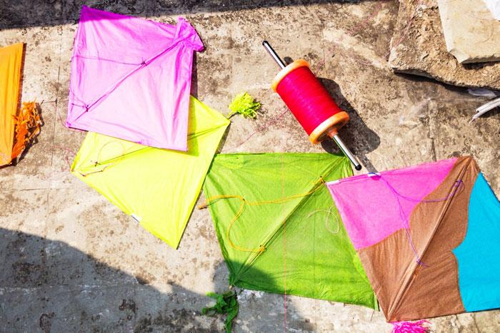 Kites from Gujarat for the Uttarayan International Kite Festival